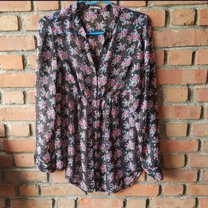 Express Floral tunic blouse